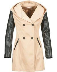 Moony Mood Ecila Women's Trench Coat In Beige - Natural