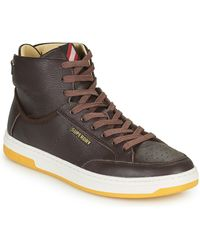 Superdry Premium Basket Lux Trainer Shoes (high-top Trainers) - Brown