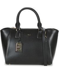 a033fd07c67 Lauren By Ralph Lauren Newbury Leather Double Zip Shopper in Blue - Lyst