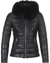Oakwood Jelly Cuir Mouton Downtown Quilted Jacket - Black