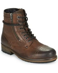 Pepe Jeans Melting High Mid Boots - Brown