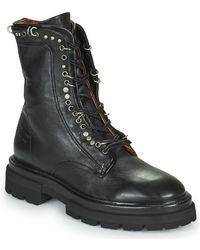 A.s.98 Heaven Lace Mid Boots - Black