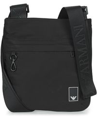 Emporio Armani - Small Flat Mess. Travel Essent - Messenger Bag Pouch - Lyst
