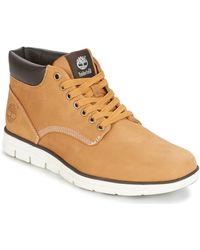 Timberland Bradstreet Chukka Leather Shoes (high-top Trainers) - Brown
