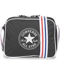 Converse Coated Retro Reporter Messenger Bag - Black