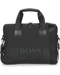 BOSS by Hugo Boss Pixel Single Doc Case Briefcase - Black