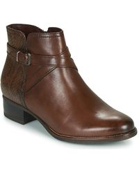 Tamaris Marly Low Ankle Boots - Brown