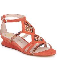 House of Harlow 1960 Celiney Women's Sandals In Orange