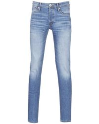 Jack & Jones - Jjiglenn Men's Skinny Jeans In Blue - Lyst