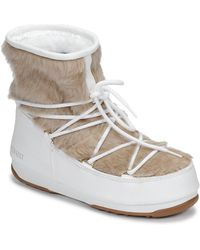 Moon Boot Monaco Low Fur Wp Snow Boots - White