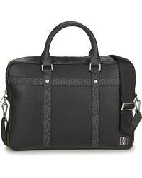 Tommy Hilfiger Th Monogram Slim Comp Bag Briefcase - Black