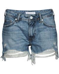 Pepe Jeans Thrasher Destroy Shorts - Blue