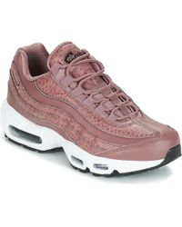 Nike Air Max 95 Leather Sneakers in Pink Lyst