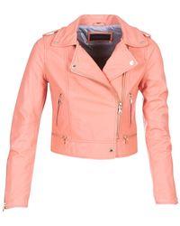 Oakwood Yoko Leather Jacket - Pink