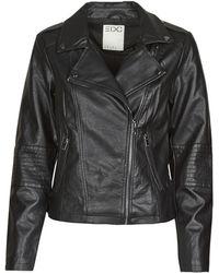 Esprit 090cc1g321 Leather Jacket - Black