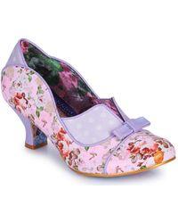 Silver C Black Mid Heel Shoes Irregular Choice /'Dust Settles/'