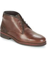 Frank Wright Stamp Mid Boots - Brown
