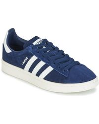 adidas Originals S Campus Low Top Lace Up Running Trainer - Blue