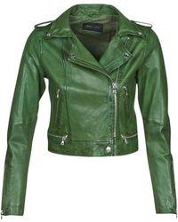 Oakwood Kyoto Leather Jacket - Green