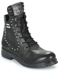 Replay Skin Mid Boots - Black