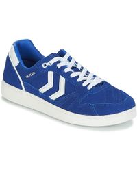 Hummel Hb Team Suede Women's Shoes (trainers) In Blue