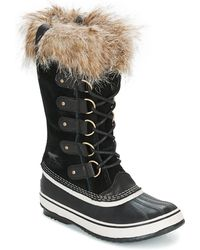 Sorel Joan Of Arctic Suede And Rubber Boots - Green