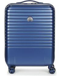 Delsey Caumartin Plus Valise Trolley Cabine Slim 4 Doubles Roues 55 Cm Hard Suitcase - Blue