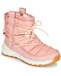 The North Face W Thermoball Lace Up Snow Boots - Pink