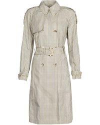 MICHAEL Michael Kors Plaid Packable Trench Trench Coat - Natural