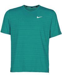 Nike Df Miler Top Ss T Shirt - Blue