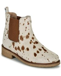 Bensimon Boots Cabourg Women's Mid Boots In Beige - Natural