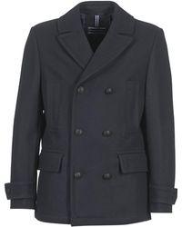 Tommy Hilfiger   Classic Pea Coat Men's Coat In Blue   Lyst