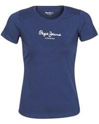 Pepe Jeans New Virginia T Shirt - Blue