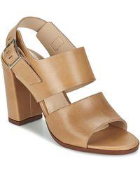 Dune Cupped Block Heel Sandal Sandals - Natural