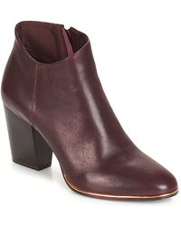 André Rika Low Ankle Boots - Red