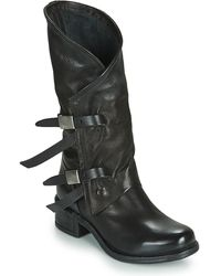 A.s.98 Isperia Buckle High Boots - Black