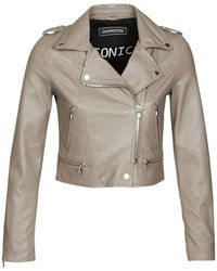 Oakwood Yoko Leather Jacket - Grey