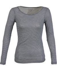Marc O'polo - Claudie Women's Long Sleeve T-shirt In Grey - Lyst