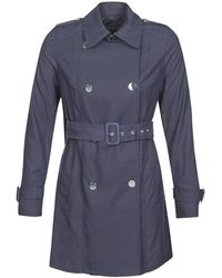 Guess Cecilia Trench Trench Coat - Blue