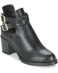 Moony Mood Bifila Low Ankle Boots - Black