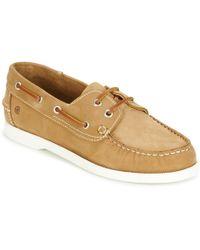 Casual Attitude Revoro Boat Shoes - Brown