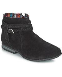 Minnetonka Dixon Suede Boots - Black