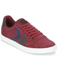 Hummel - Slimmer Stadil Duo Canvas Low Shoes (trainers) - Lyst