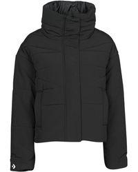 Converse Womens Funnel Neck Puffer Jacket - Black