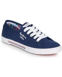 Pepe Jeans Aberlady Ecobass Shoes (trainers) - Blue