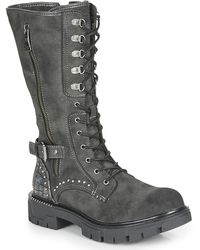 Mustang 1360504 High Boots - Grey