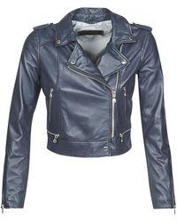 Oakwood Yoko Leather Jacket - Blue