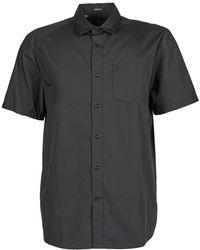 Volcom - Evrett Solid Ss Short Sleeved Shirt - Lyst