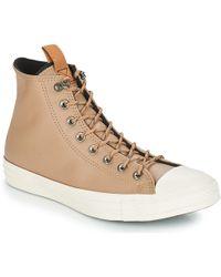 2a20e2d3e9d08e Converse - Chuck Taylor All Star Leather Hi Men s Shoes (high-top Trainers)