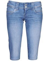 Pepe Jeans Venus Crop Cropped Trousers - Blue